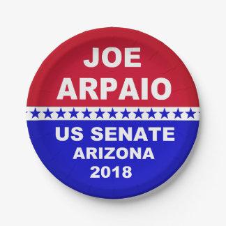 Joe Arpaio US Senate 2018 Arizona paper plates