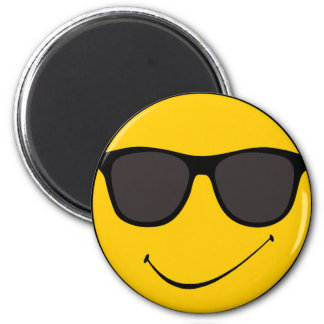 Joe Cool Smiley Magnet