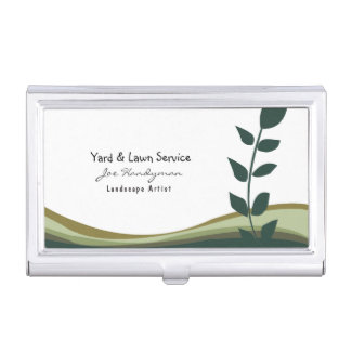 Joe Handyman Lawn Yard Professional Services Business Card Holder