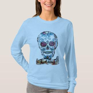 Joe Morris Sugar Skull Ladies long Sleeve T-Shirt