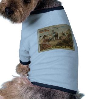 Joe Ott,'Looking For Trouble' Retro Theater Doggie T Shirt