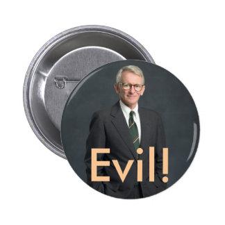 joe riley, Evil! 6 Cm Round Badge