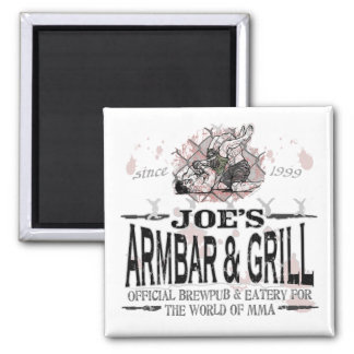 Joe s Armbar Grill MMA Gear Refrigerator Magnets