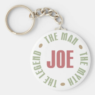 Joe The Man The Myth The Legend Tees Gifts Basic Round Button Key Ring