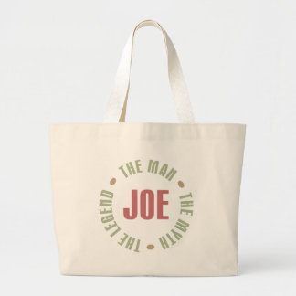 Joe The Man The Myth The Legend Tees Gifts Jumbo Tote Bag