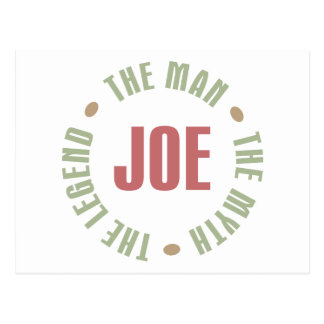 Joe The Man The Myth The Legend Tees Gifts Postcard