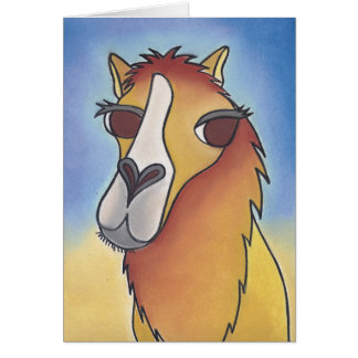 Joe the No Smoking Camel by Robyn Feeley Card