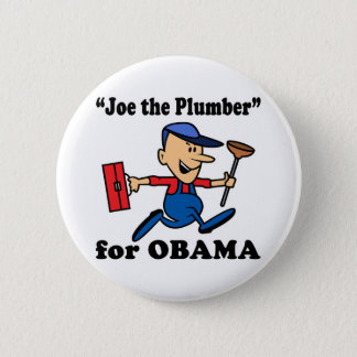 Joe the Plumber for Obama 6 Cm Round Badge