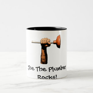 Joe The Plumber Rocks! Two-Tone Coffee Mug