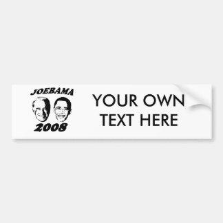 Joebama black bumper sticker