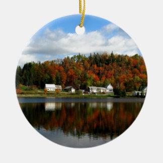 Joe's Pond - Danville, Vermont Ceramic Ornament