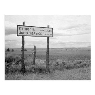 Joe's Service, 1936 Postcard