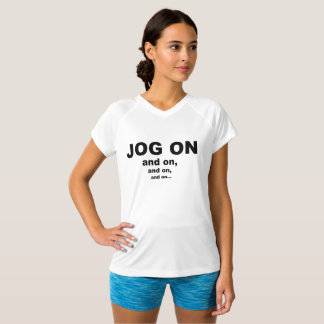 Jog On V-Neck Sports T-Shirt