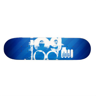 Jog; Royal Blue Stripes Skateboard Decks