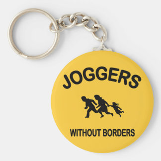 Joggers Without Borders Basic Round Button Key Ring