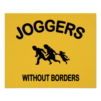 Joggers Without Borders Poster