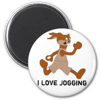 Jogging Cartoon Rabbit Refrigerator Magnets