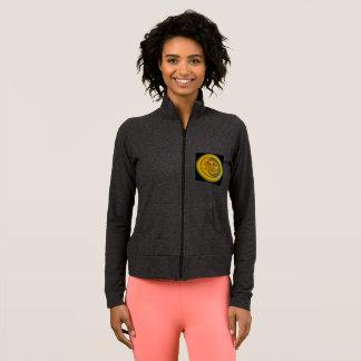 Jogging jacket with sun & moon illustration