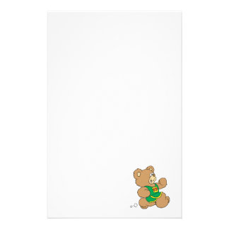 Jogging Running Bear Personalized Stationery