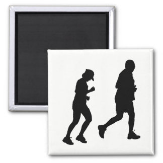Jogging Silhouette Magnet