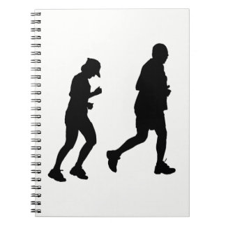 Jogging Silhouette Notebook