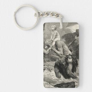 Joh Mogk Christ Saint Christopher Child River Key Ring