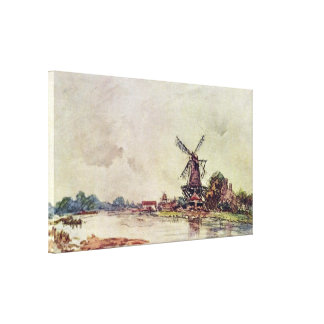 Johan Barthold Jongkind - landscape Canvas Print