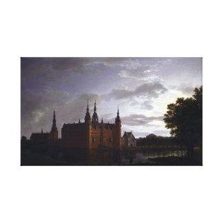 Johan Christian Claussen Dahl Frederiksborg Castle Canvas Print