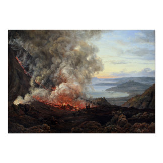 Johan Christian Dahl Eruption of Volcano Vesuvius Poster
