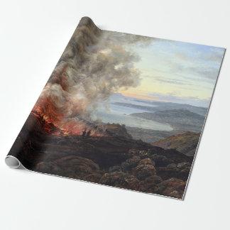 Johan Christian Dahl Eruption of Volcano Vesuvius Wrapping Paper