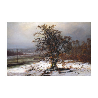 Johan Christian Dahl Oak Tree by the Elbe Winter Canvas Print