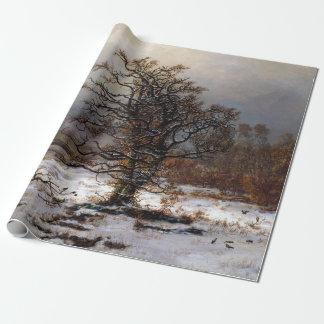 Johan Christian Dahl Oak Tree by the Elbe Winter Wrapping Paper