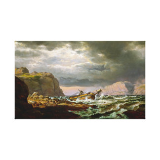 Johan Christian Dahl Shipwreck on Coast Norway Canvas Print