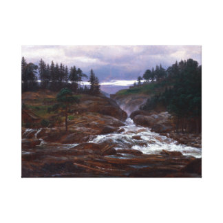 Johan Christian Dahl The Lower Falls of Labrofoss Canvas Print