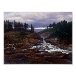 Johan Christian Dahl The Lower Falls of Labrofoss Poster