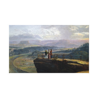 Johan Christian Dahl View from Bastei Canvas Print
