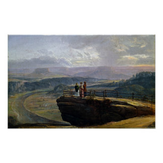 Johan Christian Dahl View from Bastei Poster
