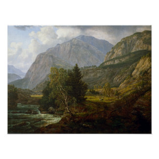Johan Christian Dahl View of Fortundalen Poster