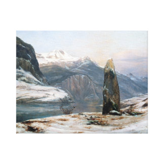 Johan Christian Dahl Winter at the Sognefjord Canvas Print
