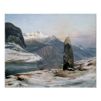 Johan Christian Dahl Winter at the Sognefjord Poster