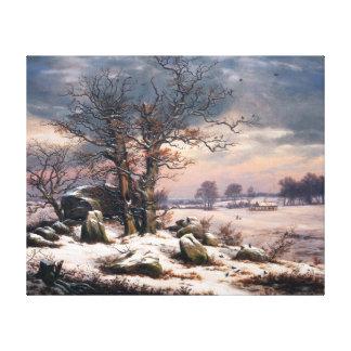 Johan Christian Dahl Winter Landscape Vordingborg Canvas Print