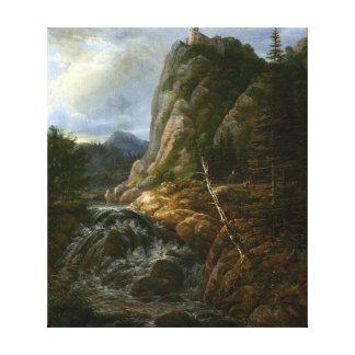 Johann Christian Clausen Dahl Nordic Landscape Canvas Print