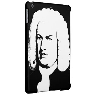 Johann Sebastian Bach abstractly in black and Cover For iPad Air