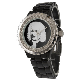 Johann Sebastian Bach abstractly in black and Watch