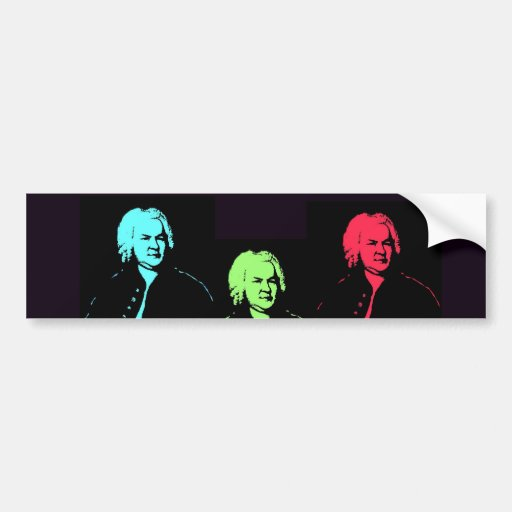 Johann Sebastian Bach Collage Bumper Sticker
