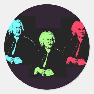 Johann Sebastian Bach Collage Round Sticker