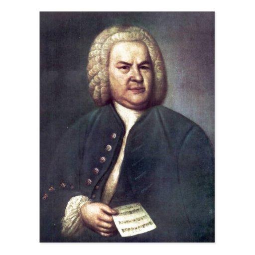 Johann Sebastian Bach im Jahre 1746, mit R?tselkan Post Card