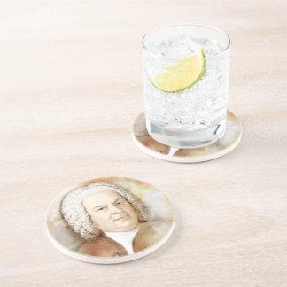 Johann Sebastian Bach in the water color style Drink Coasters