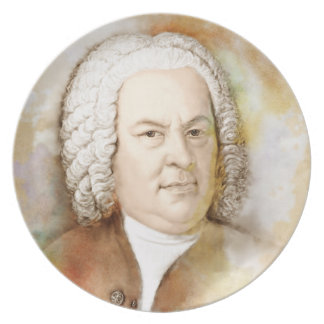 Johann Sebastian Bach in the water color style Plate