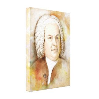Johann Sebastian Bach on Canvas - Watercolor-Style